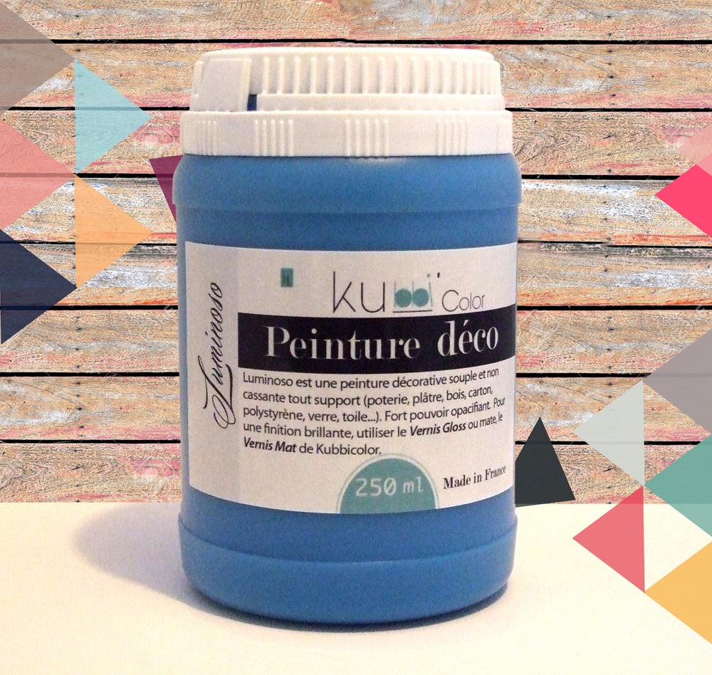 Peinture décorative bleu tous supports Kubbicolor fabricant français